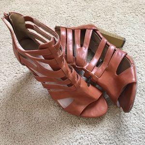 DB DK Fashion Reddish Brown Heels Size 10